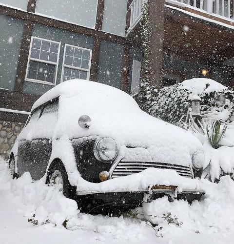 積雪50センチの金沢